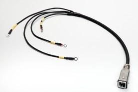 Kabel s kruhovými kabelovými oky