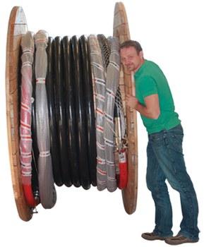 Loop kabel for bruk i Top Drives på borerigger