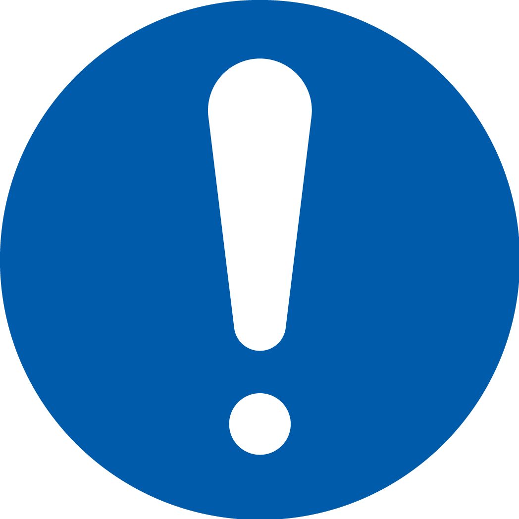 PÅBUDSDEKALER (M) EN ISO 7010