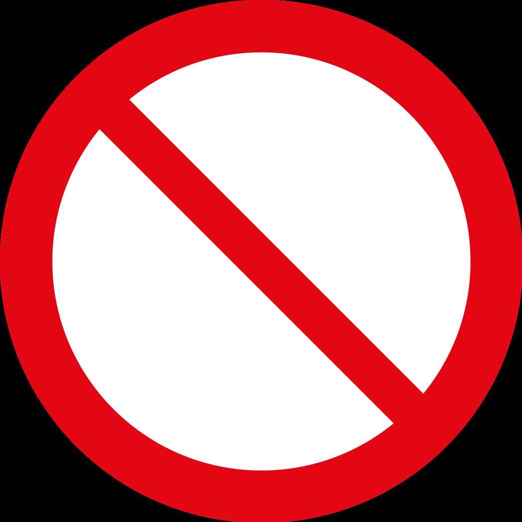 FÖRBUDSDEKALER (P) EN ISO 7010