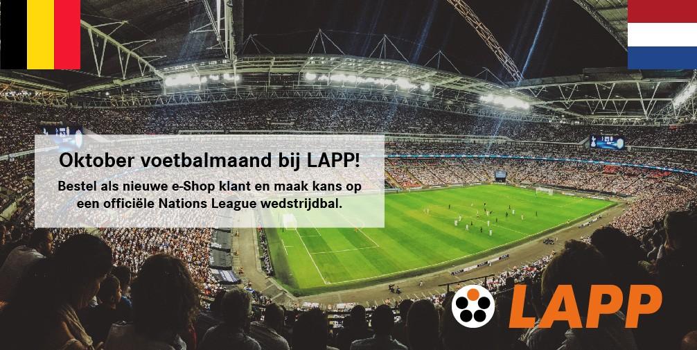 Stagebanner Voetbalmaand NL LAPP Logo