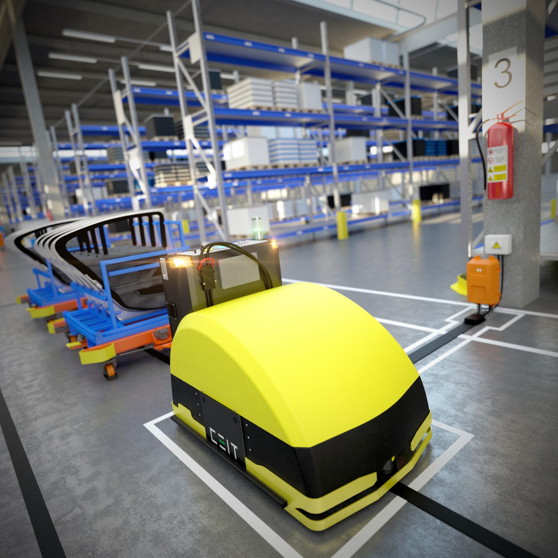 AGV tahac CEITruck s automatickymi periferiami