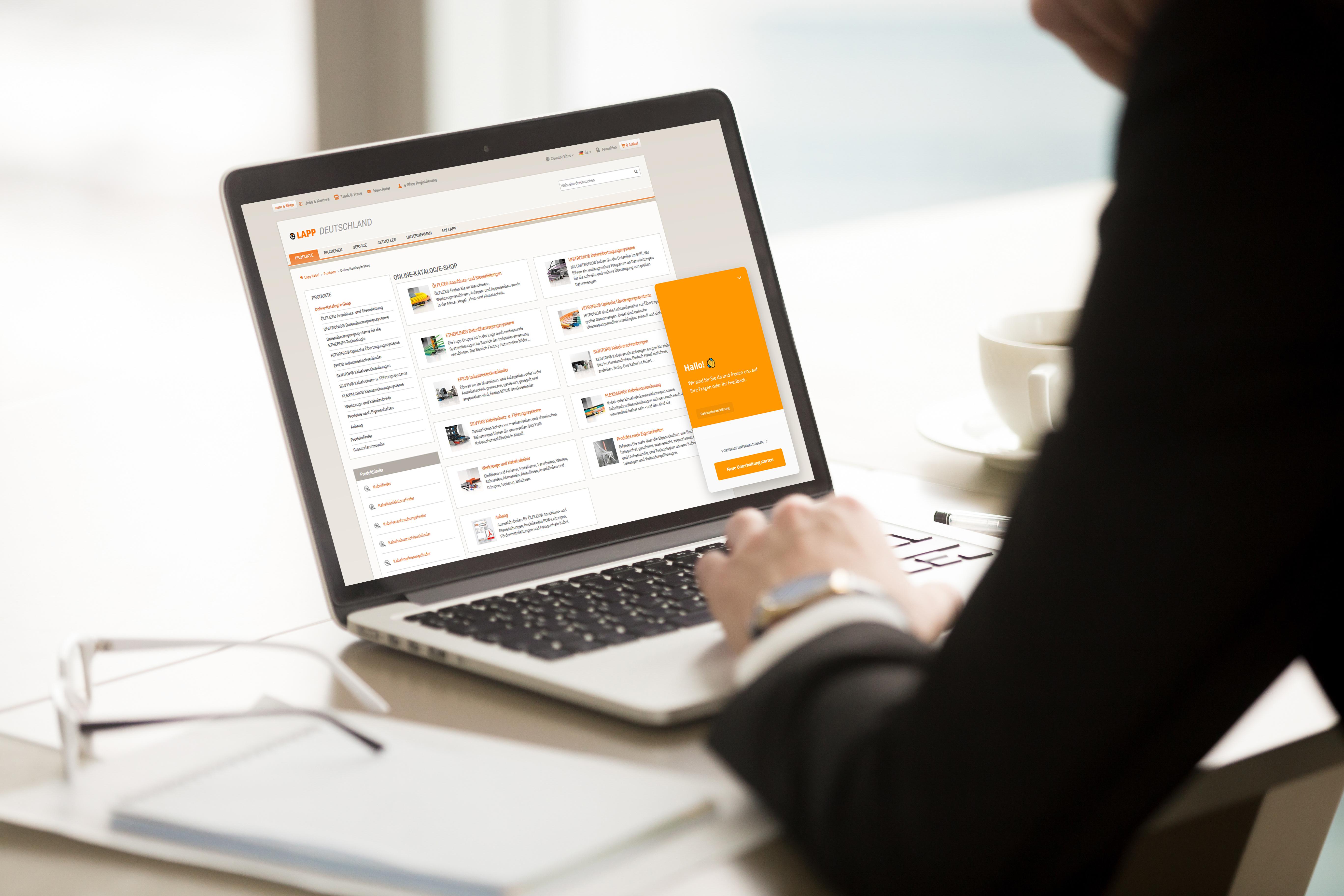 Schnelle Frage, rasche Antwort – der neue LAPP Live-Chat