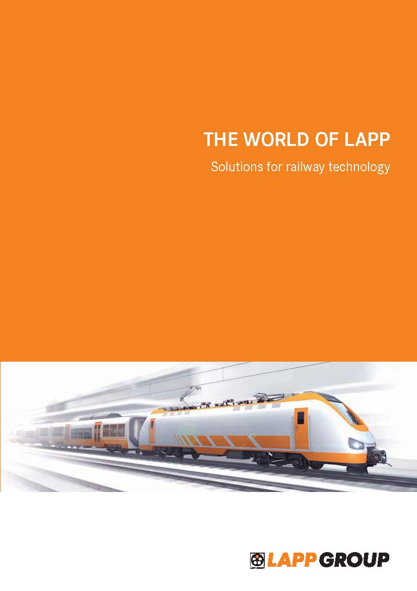 THE WORLD OF LAPP Solutions for railway technology