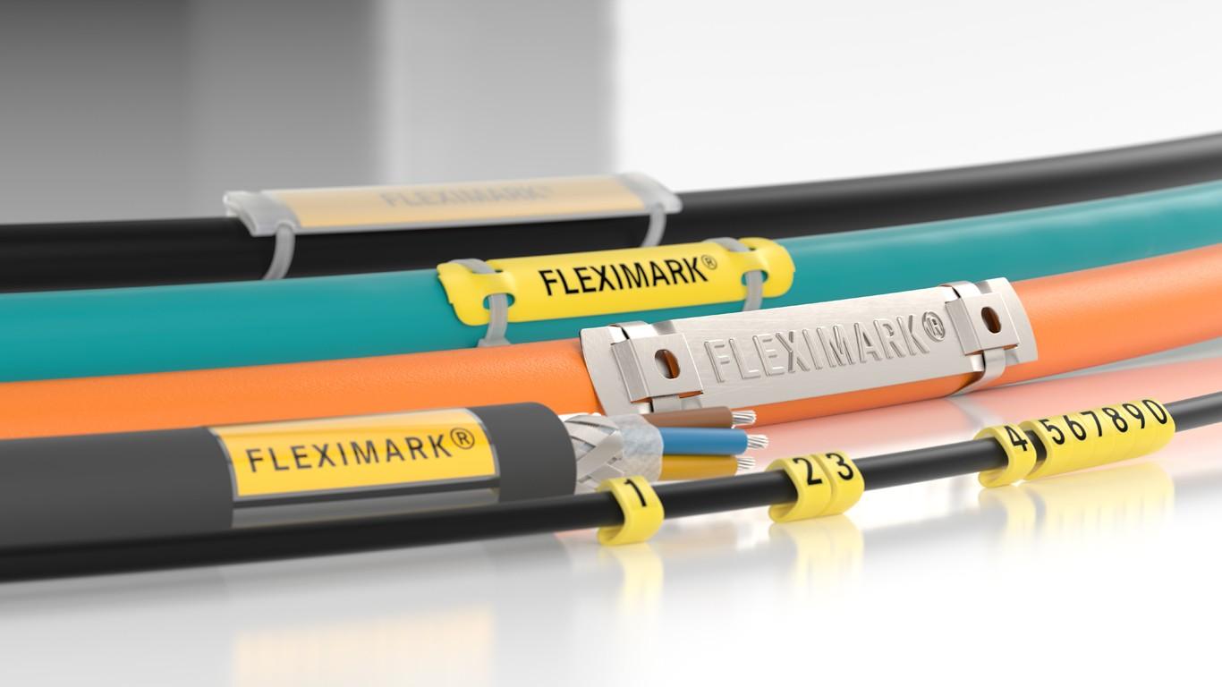 Fleximark® tilbyr markedets beste produkter for industriell og varig merking av kabler, ledninger, slanger, rør og komponenter.