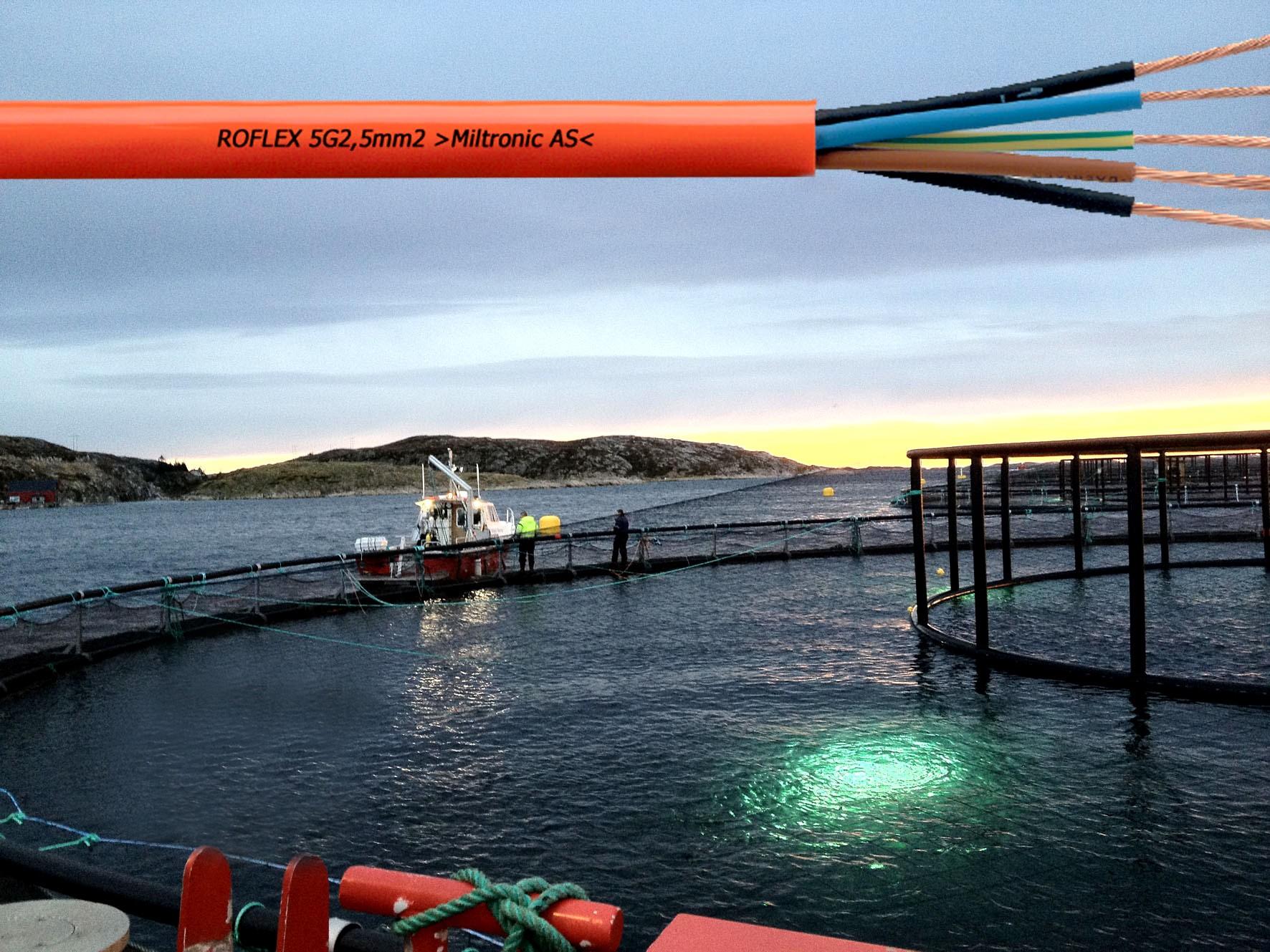 Kabler til havbruk og akvakultur
