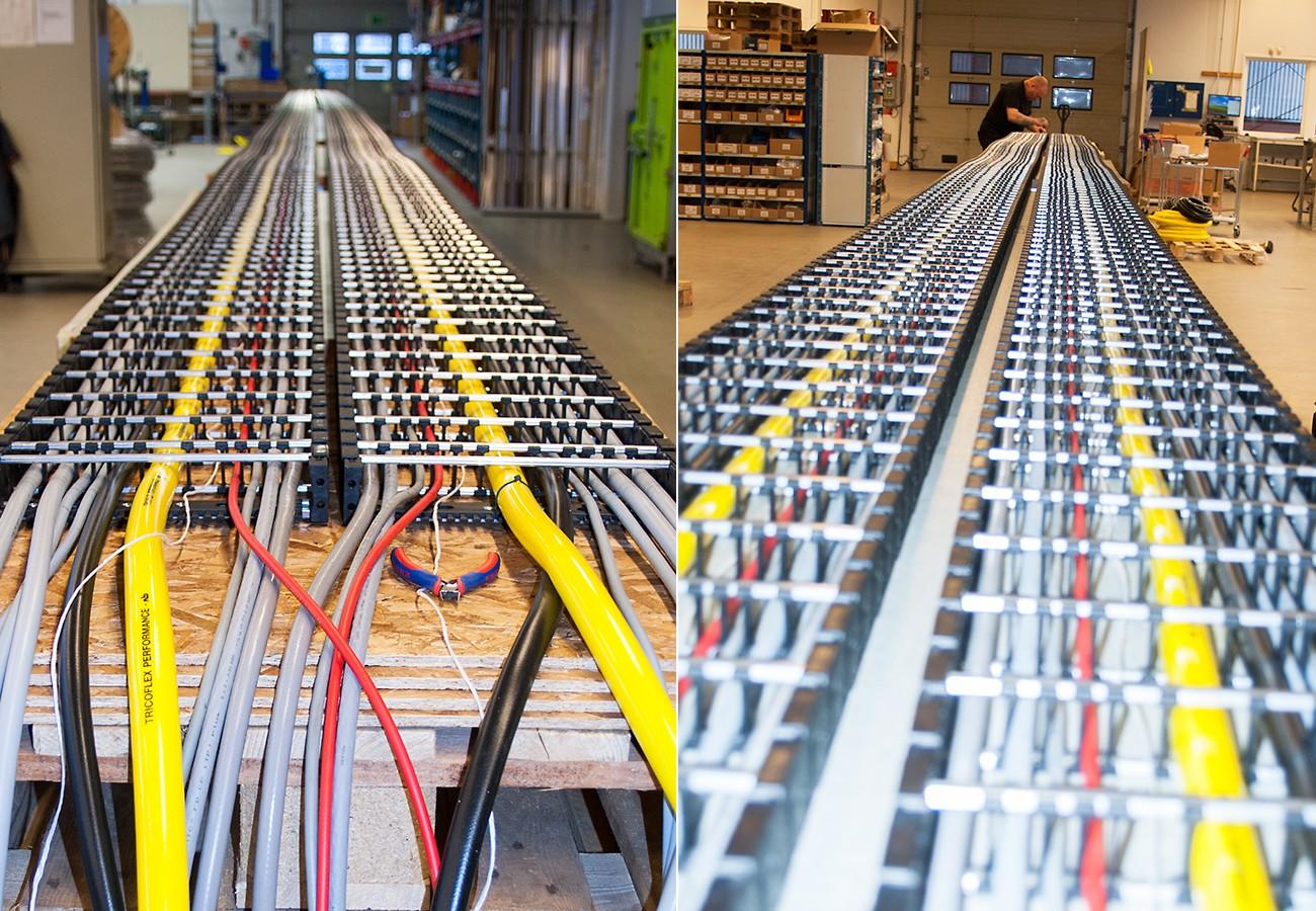 Hybridsläpkedjor, VARIO-LINE - Släpkedja i plast med metallstag