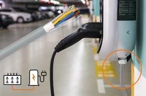 Kabel til strømforsyning og kommunikation til ladestander og ladeboks