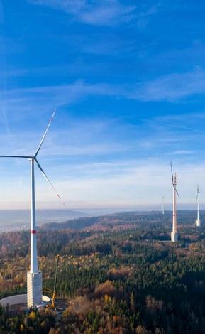 Windenergiecentrale in Gaildorf