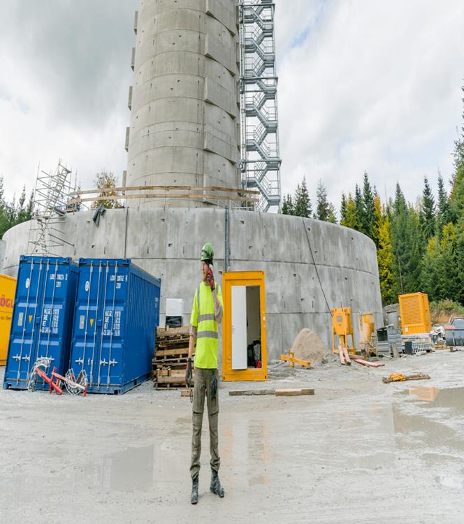 Windenergiecentrale met waterbatterij, de natuurlijke energieopslag in Gaildorf