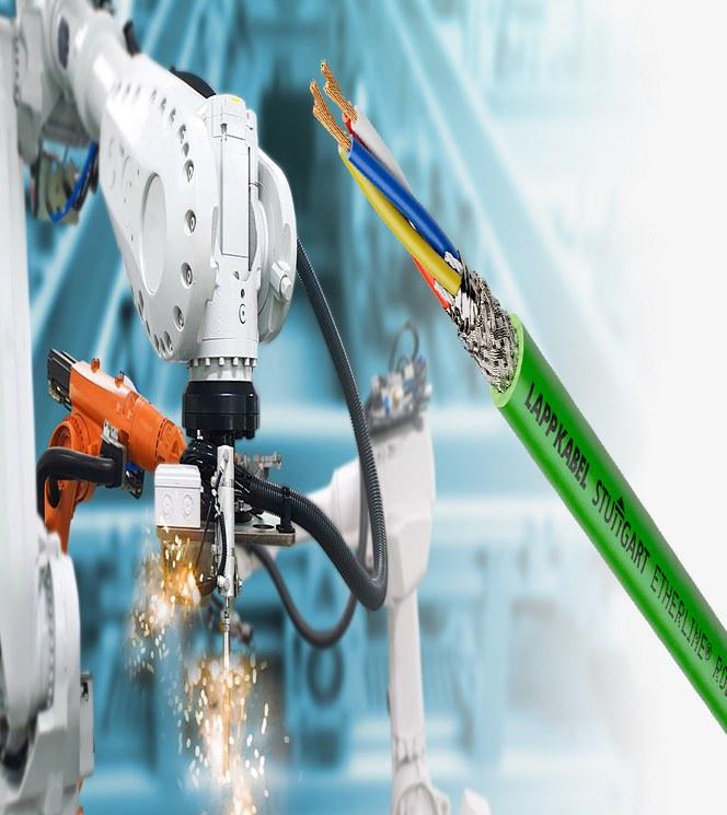 Första typ R-robotkabeln – ny standard för PROFINET-kablar i industrirobotar