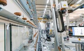 En produktionslinje för isolerglas från Bystronic Glass