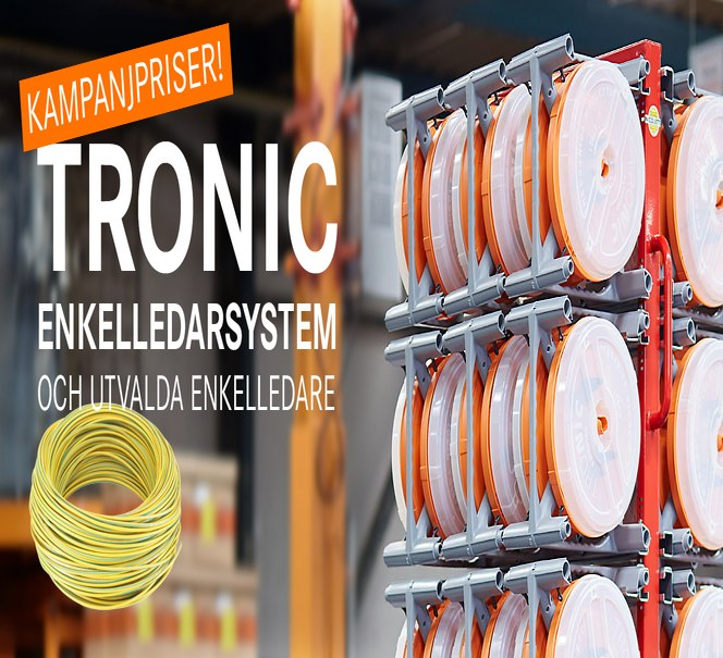 10% rabatt på TRONIC enkelledarsystem