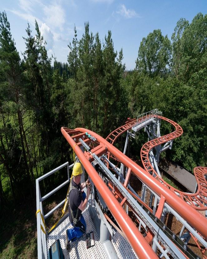 Horská dráha v zoo Tatzmania