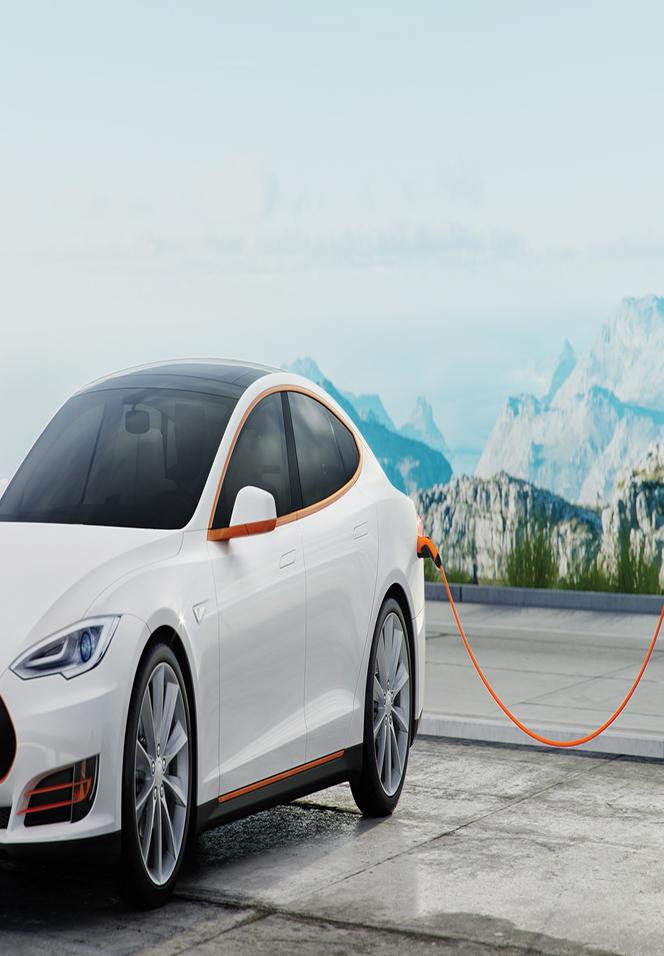 eMobility: Tesla met laadkabel van LAPP