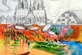 The vibrant ghats of Rhein