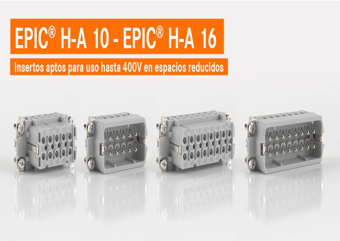 Inserto estándar compacto para uso hasta 400V