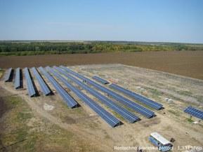 Установка сонячних модулів на Іванківській СЕС