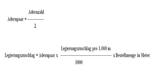Berechnung Legierungszuschlag