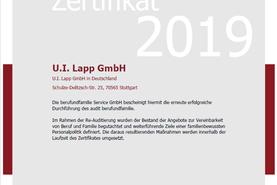Re-Auditierung 'berufundfamilie'_Zertifikat 5/2019 - 5/2022