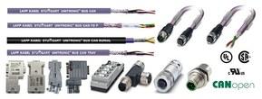 Rango de producto para CAN/CANopen: cables, latiguillos preconectorizados, conectores
