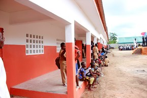 "The school yard of the ""Collège Andreas Lapp"", Galebre, Ivory Coast."