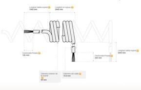Ejemplo de diseño personalizado de cable espiral
