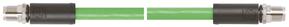 ETHERLINE FD CAT 6 M12: conexiunea nepermanenta permite schimbarea usoara a echipamentului. Min 2,5 milioane de cicluri de indoire in lant port-cablu