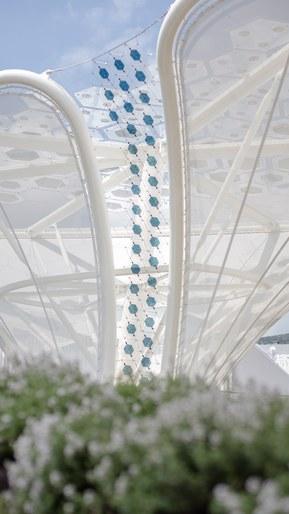 Solcellsträden med dem nya organiska solcellsmodulerna