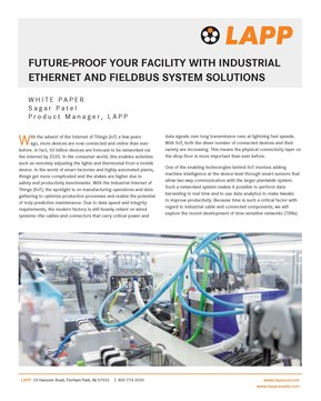 Future Proof IDC Industrial Ethernet FieldBus Page 1