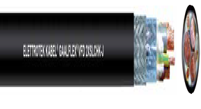 GAALFLEX® VFD 2XSLCHK-J för matning av frekvensstyrda motorer