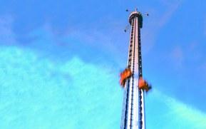 """Fritt Fall"" atinge o viteza de 100 km / h in mai putin de trei secunde."