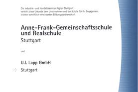 Bildungspartnerschaft Anne-Frank-Gemeinschaftsschule und Realschule Stuttgart_seit 10/2016