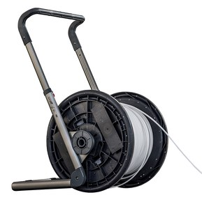 Ergonomisk kabelafruller til store kabeltromler