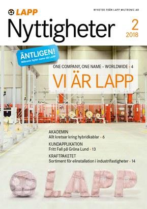 Nyttigheter 2/2018 - nytt från LAPP Miltronic AB