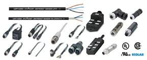 Cables, latiguillos, conectores, módulos I/O, accesorios