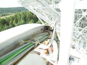 Для системы управления приемным комплексом радиотелескопа использовался кабель ETHERLINE® Cat.5 FD BK