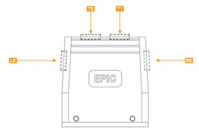 Pouzdro velikost EPIC® H-B 32 se čtyřmi vstupy velikostí