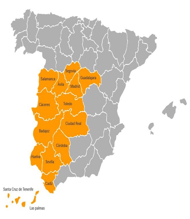 Zona Centro-Sur + Canarias
