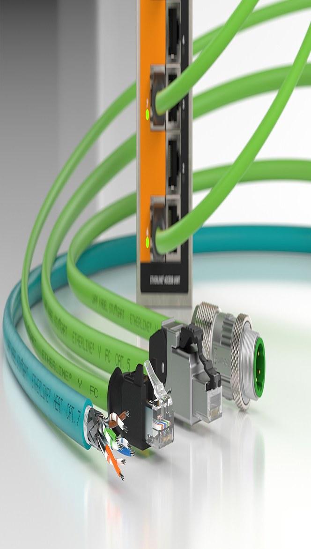ETHERLINE Ethernet kabler for høyhastighets datakommunikasjon i alle typer industrielle nettverk.