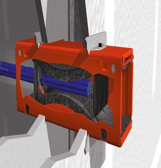 Innovativ brandtätning för kabelgenomföring i väggar och golv