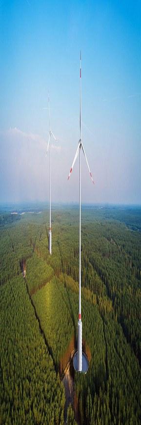 Verdens høyeste vindkraftverk ligger i Gaildorf nær Stuttgart og kablene kommer fra Lapp
