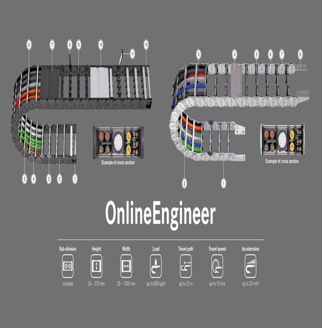Design dine egne kabelkjeder med OnlineEngineer fra Kabelschlepp®
