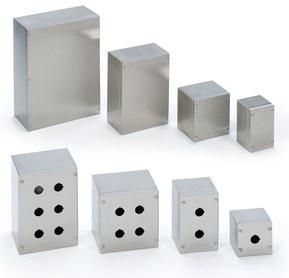 Kopplingslådor SDN och tryckknappslådor SPN i rostfritt stål.