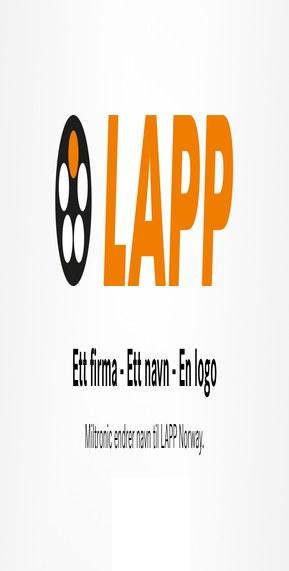 Miltronic endrer navn til LAPP Norway