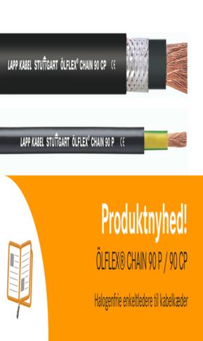 Halogenfrie enkeltledere til kabelkæder