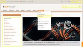 Registrer dig under Webshop i hovedmenuen