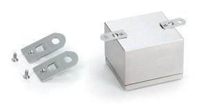 Vægbeslag og monteringsplader til rustfrie trykknappskasser