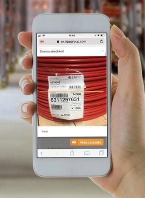 Skanna EAN-koden med din smartphone eller surfplatta
