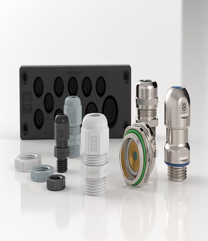 SKINTOP® nipler og kabelgjennomføringer gir sikre og hermetisk lukkede tilkoblinger med sentrert og strekkavlastet kabel.